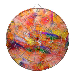 Abstract painting Infinite sunset Dartboards