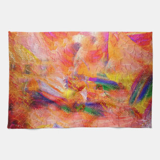Abstract painting Infinite sunset Kitchen Towel
