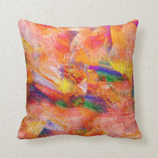 Abstract painting Infinite sunset Throw Pillow