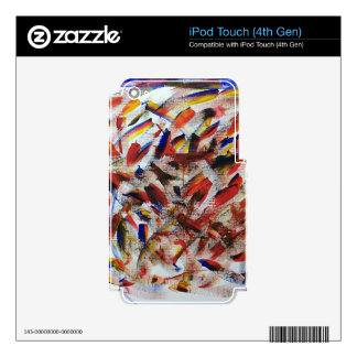 Abstract Painting iPod Touch 4G Skins