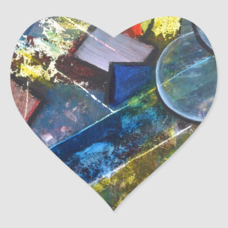 Abstract painting Its Complicated Heart Sticker
