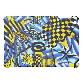 Abstract painting merged with case for the iPad mini