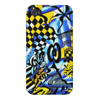 Abstract painting merged with iPhone 4 cover
