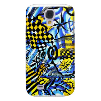 Abstract painting merged with samsung galaxy s4 cover