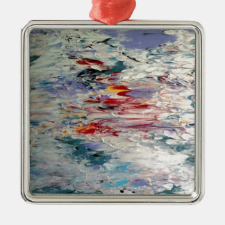 Abstract Painting Metal Ornament