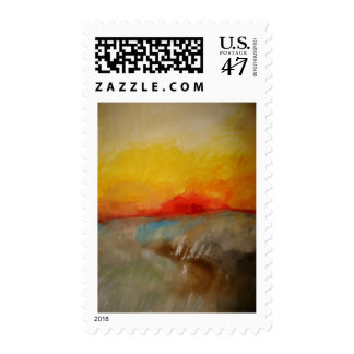 Abstract Painting Modern Art Postage