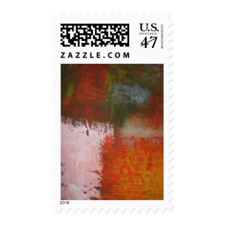 Abstract Painting Modern Art Postage Stamp