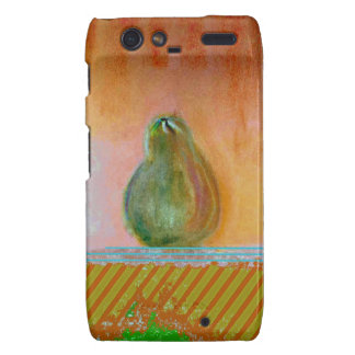 Abstract painting of a colorful pear. droid RAZR case