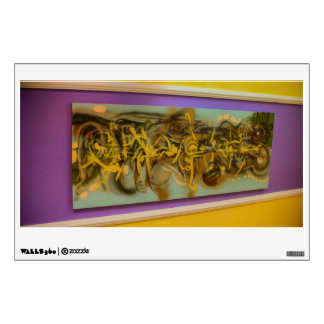 Abstract painting on a wall room decals