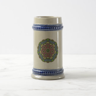 Abstract Painting Pattern 06 - Add your own text Beer Stein