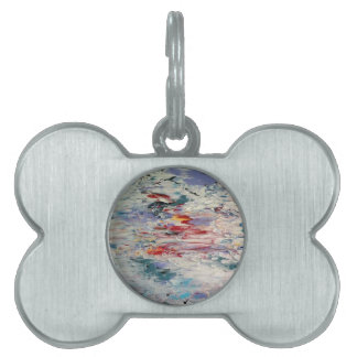 Abstract Painting Pet ID Tag