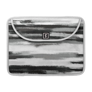 Abstract Painting | Retro Black and White 8 Sleeve For MacBook Pro