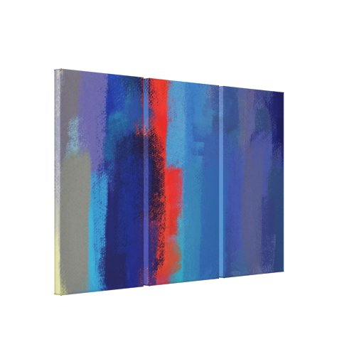 Abstract Painting | Retro Colorful 5 Canvas Print