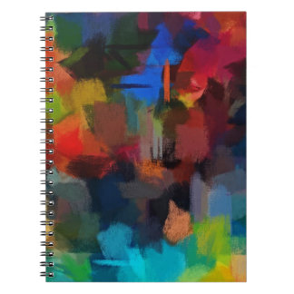 Abstract Painting | Retro Colorful 5 Spiral Notebook