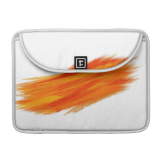 Abstract Painting | Retro Orange 2 Sleeve For MacBook Pro