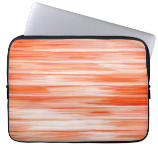 Abstract Painting | Retro Orange and White 50 Computer Sleeve