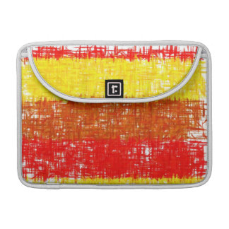 Abstract Painting | Retro Orange Yellow Red Sleeve For MacBooks