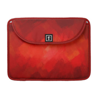 Abstract Painting | Retro Red 8 MacBook Pro Sleeve