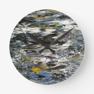Abstract Painting Round Clock