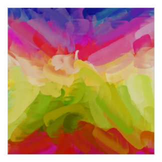 Abstract Painting | Spring Colors Poster