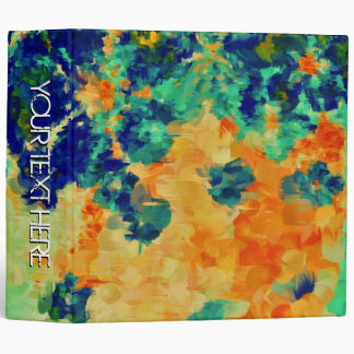 Abstract Painting | Spring Flowers 2 3 Ring Binder