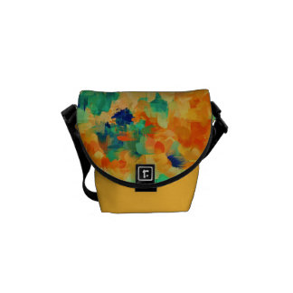 Abstract Painting | Spring Flowers Messenger Bag