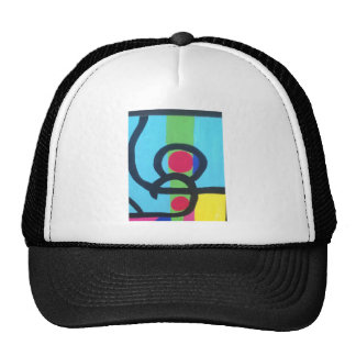 Abstract painting trucker hat
