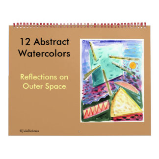 Abstract Paintings-12 watercolors Space Series Calendar