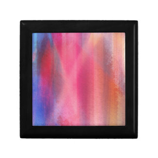Abstract paints jewelry box