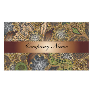 Abstract Paisley Bronze Business Card