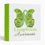 Abstract Paisley Butterfly - Lymphoma Awareness Vinyl Binder