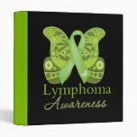 Abstract Paisley Butterfly - Lymphoma Awareness Binder