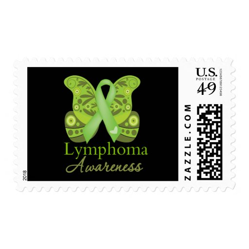 Abstract Paisley Butterfly - Lymphoma Awareness Stamps
