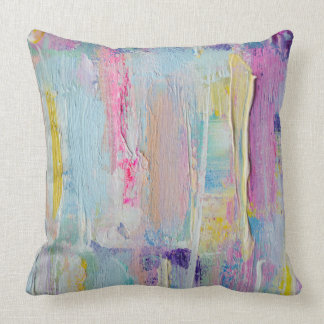Abstract Palette Knife Painting Pillow