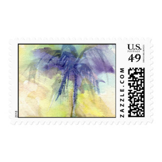 Abstract Palm Watercolor Postage