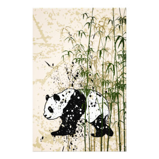 """Abstract panda in bamboo forest 5.5"""" x 8.5"""" flyer"""