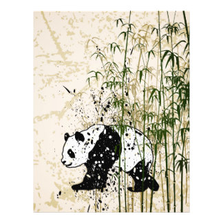 """Abstract panda in bamboo forest 8.5"""" x 11"""" flyer"""
