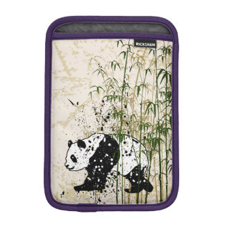 Abstract panda in bamboo forest iPad mini sleeves