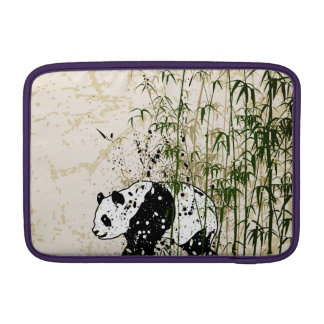 Abstract panda in bamboo forest MacBook sleeve
