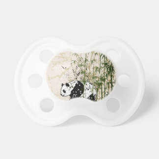 Abstract panda in bamboo forest BooginHead pacifier