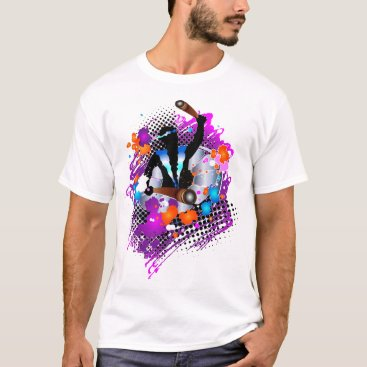 Beach Themed Abstract Panman (in Glory) T-Shirt