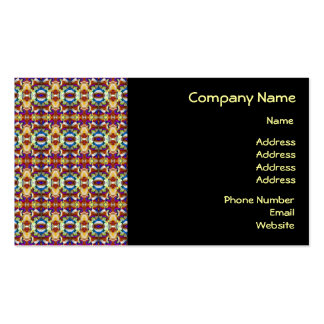 Abstract Pansy Flower Fractal Business Card Template