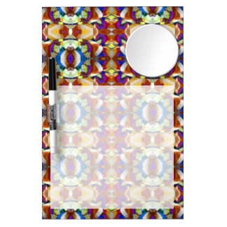 Abstract Pansy Flower Fractal Dry Erase Board With Mirror