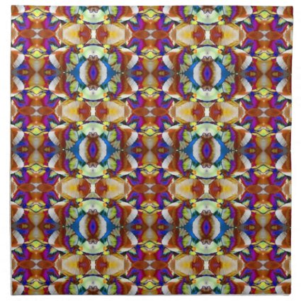 Abstract Pansy Flower Fractal Napkins