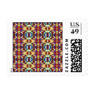 Abstract Pansy Flower Fractal Postage
