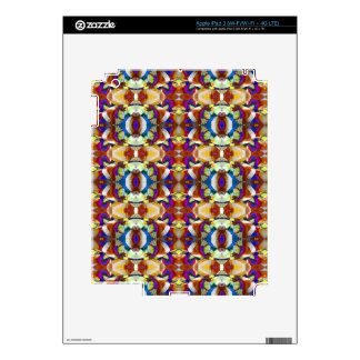 Abstract Pansy Flower Fractal iPad 3 Decal