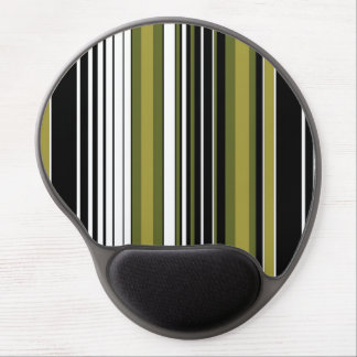 abstract parallel green lines stripes pattern gel mouse pad