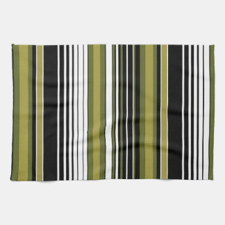 abstract parallel green lines stripes pattern towel