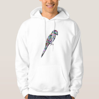 Abstract Parrot Made From Butterflies Hoody