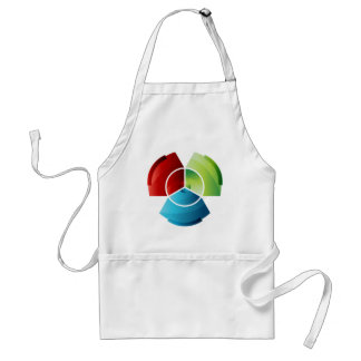 Abstract Partitioned Pie Chart Adult Apron